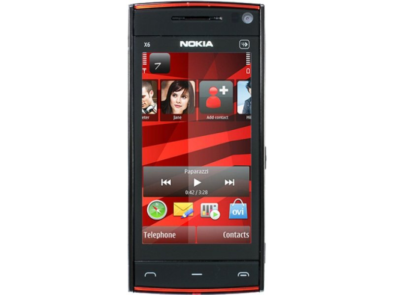 Nokia X6 black TV, 2 sim, Wi-Fi, JAVA